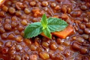Zuppa di lenticchie al pomodoro