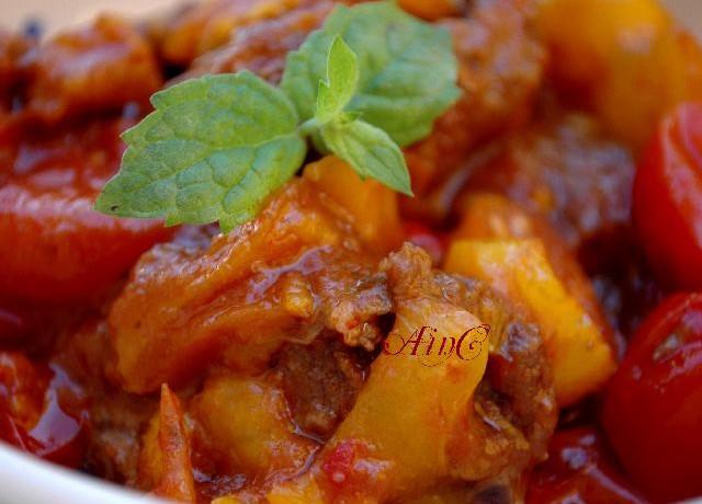 Bocconcini di carne e peperoni e nozioni di SEO