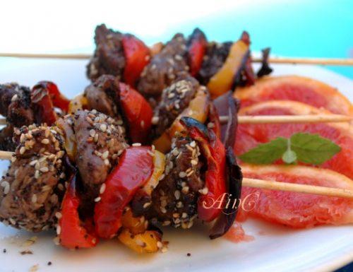 Spiedini di carne e peperoni ricetta facile