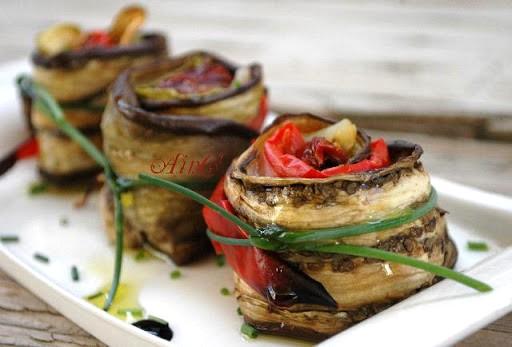 Melanzane peperoni e zucchine piatto light vickyart arte in cucina