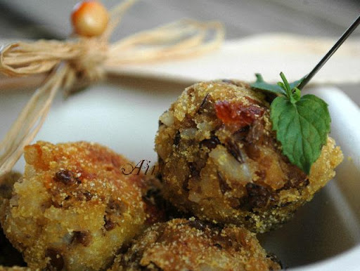 Polpette di riso e lenticchie arte in cucina
