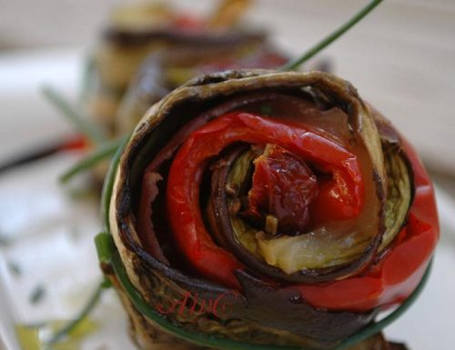 Melanzane peperoni e zucchine piatto light