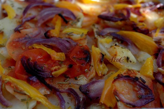 Patate al forno con cipolle e peperoni vickyart arte in cucina