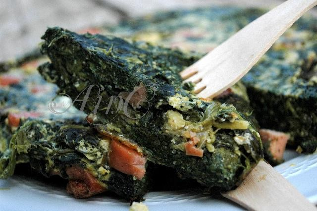 Tortino di spinaci senza farina