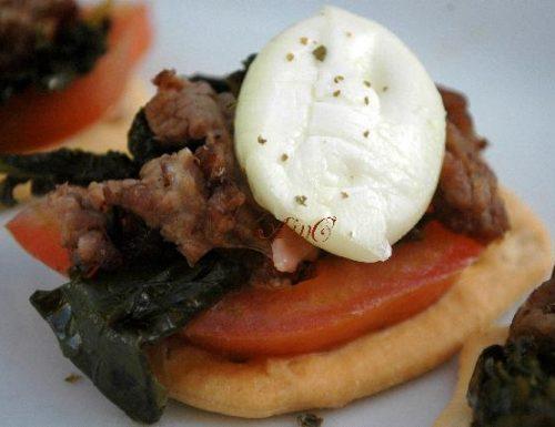 Friarielli cheesesteak mozzarella di bufala e pomodori
