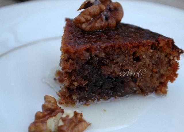Torta noci miele e nutella senza glutine