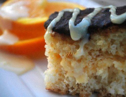 Merenda alla crema d'arancia e cioccolato