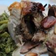 Pollo ripieno mandorle funghi spezie senza glutine vickyart arte in cucina