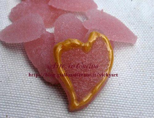 Cuori di caramelle all'amarena senza glutine