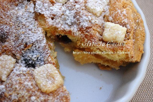 Crostata con crema al cocco e amarene senza glutine, buonissima!