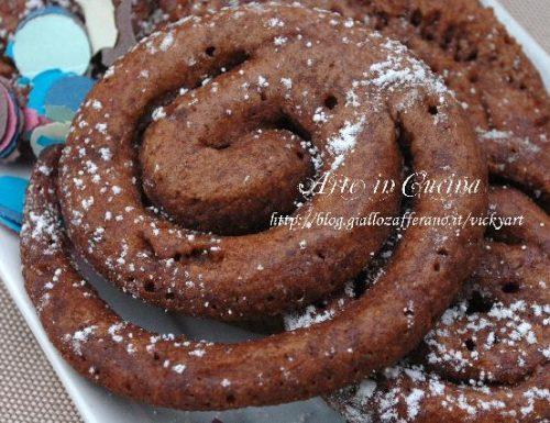 Girelle al cacao dolci di carnevale senza glutine