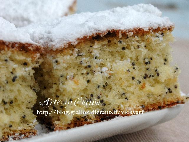 Torta al limone con farina di riso senza glutine vickyart