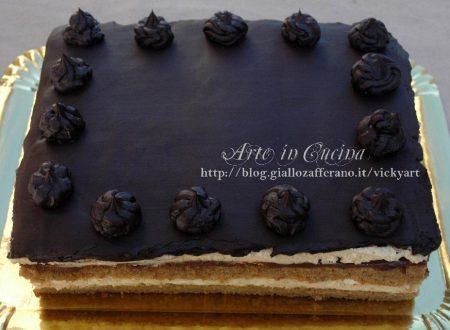 Torta di Montersino Opèra ricetta al caffè