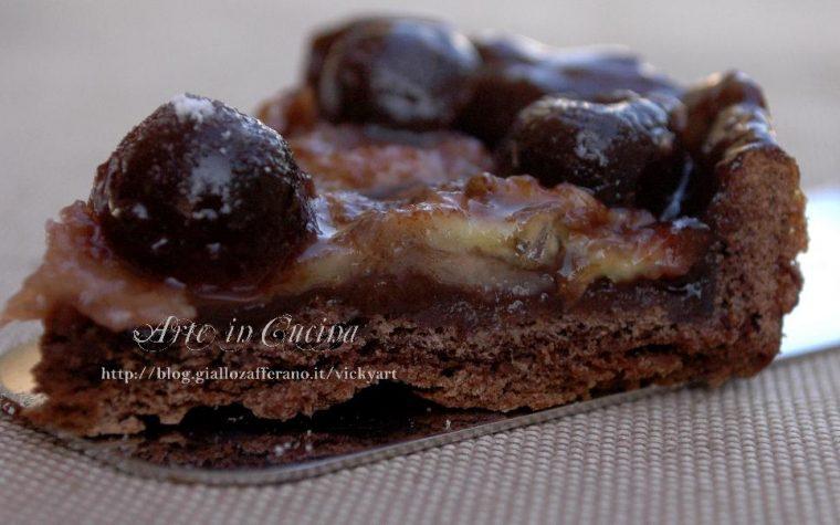 Crostata banane e amarene senza glutine e il nuovo contest al cioccolato
