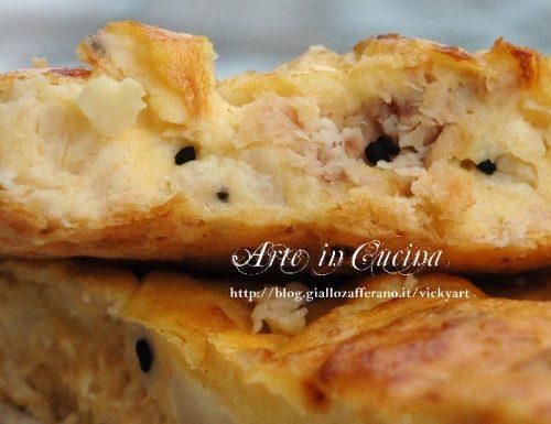 Torta rustica di uova tonno e cavolfiore senza glutine