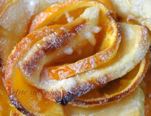 Torta di rose alla arancia e miele