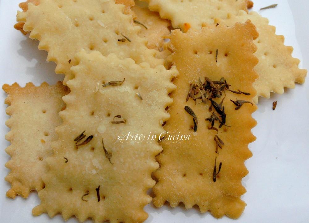 Crakers salatini snack con pasta madre