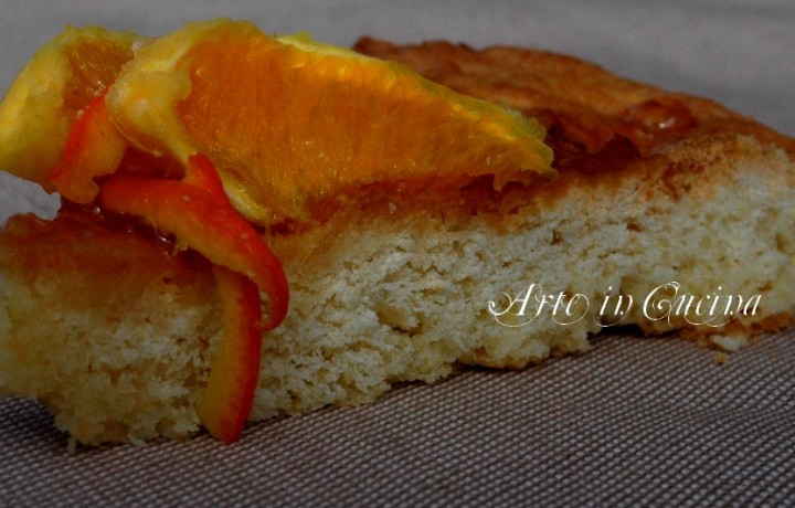 Crostata soffice al limone con marmellata di arance