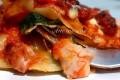Lasagna al sugo con spinaci