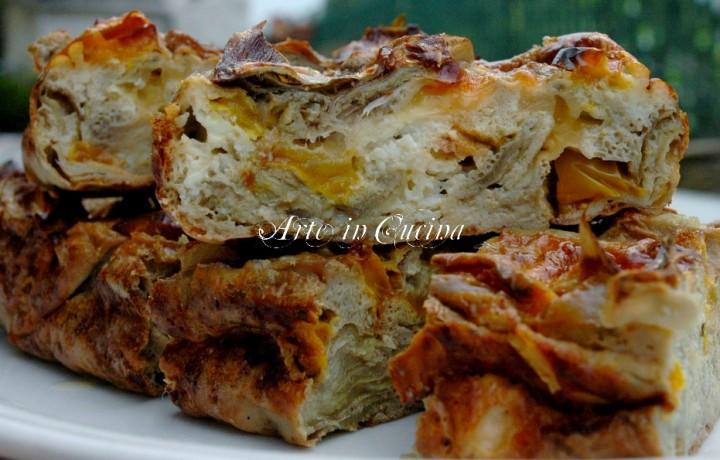 Torta rustica con carciofi e ricotta antipasto veloce