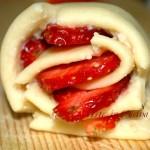 Torta di rose alle fragole e limone ricetta facile vickyart arte in cucina