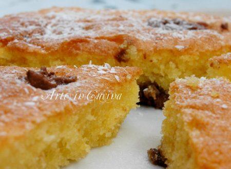 Torta soffice e veloce con nutella e cocco