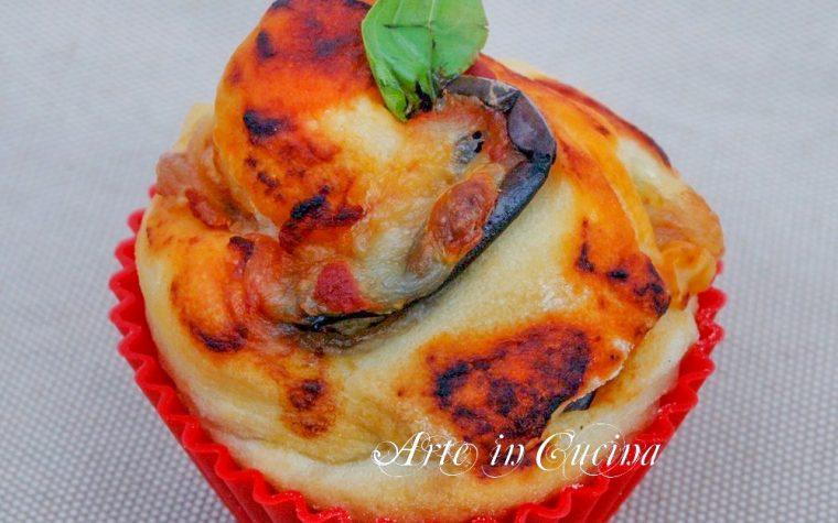 Torta di rose con melanzane alla parmigiana