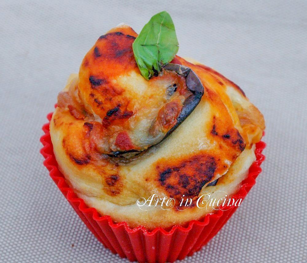 Torta di rose con melanzane alla parmigiana vickyart arte in cucina