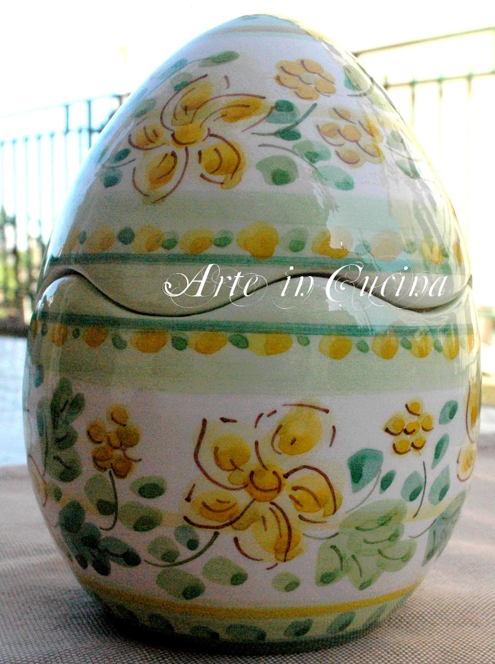 Uovo decorato La Giara Verde