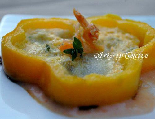 Peperoni ripieni con uova, antipasto o secondo, insolito!