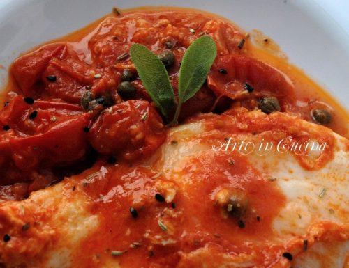 Mozzarella e pomodoro piatto light al forno o in padella