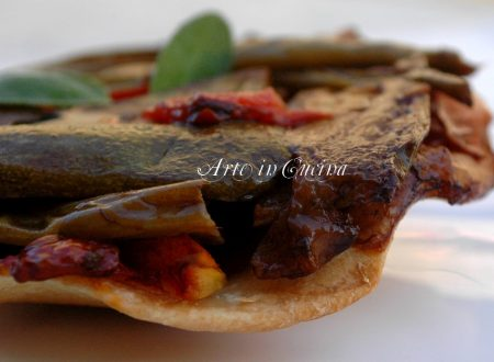 Crostata light con verdure, rovesciata