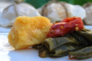 Pane al vapore con peperoncini kenkey ghanese