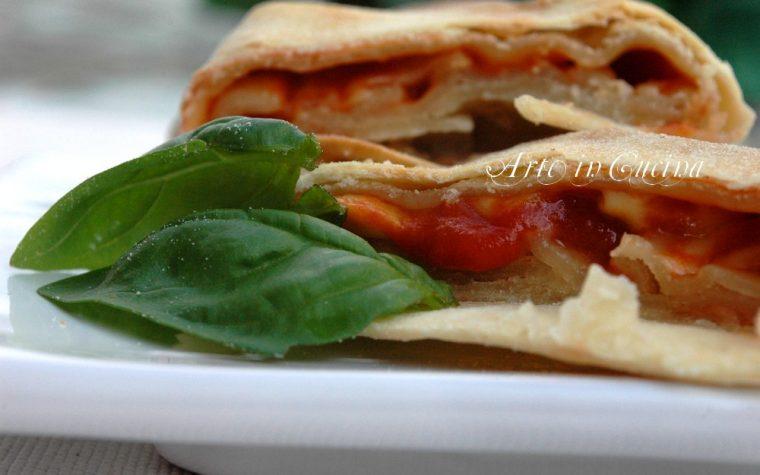 Rustico light veloce mozzarella e pomodoro con la phillo