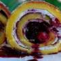 Girelle gelato e frutti di bosco ricetta vickyart arte in cucina