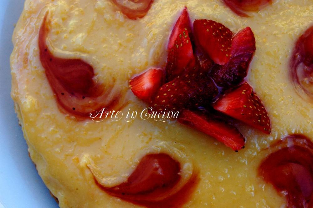 Torta soffice con crema al limone arte in cucina