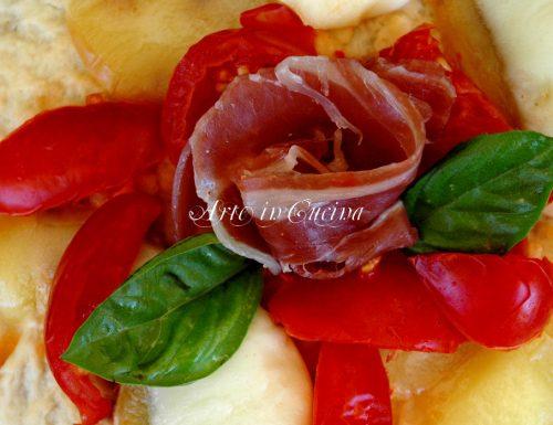 Focaccia con pomodorini in padella