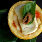 Limoni ripieni con mozzarella e pomodori ricetta light veloce