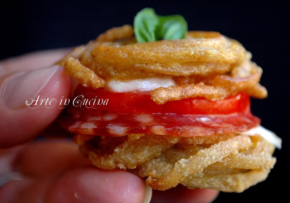 Millefoglie salata di pasta mozzarella e pomodori vickyart arte in cucina