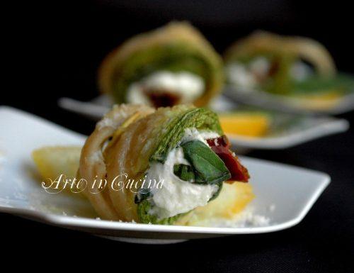 Pasta fredda al limone con philadelphia e zucchine