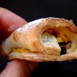 Strudel pesche e cioccolato con pasta sfoglia senza pieghe