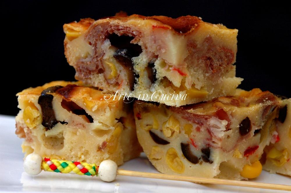 Torta salata mais e prosciutto ricetta arte in cucina