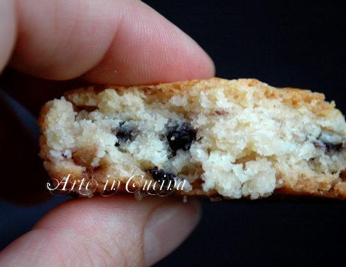 Biscotti di pasta frolla ai mirtilli