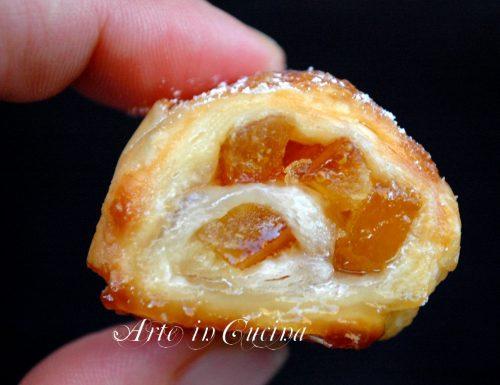 Girelle di sfoglia con arancia veloci e facili