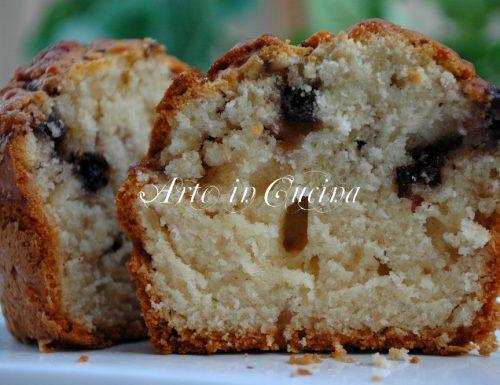 Torta cocco e mirtilli facilissima per colazione