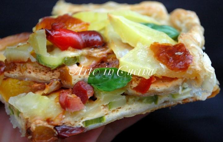 Torta salata con patate e verdure veloce