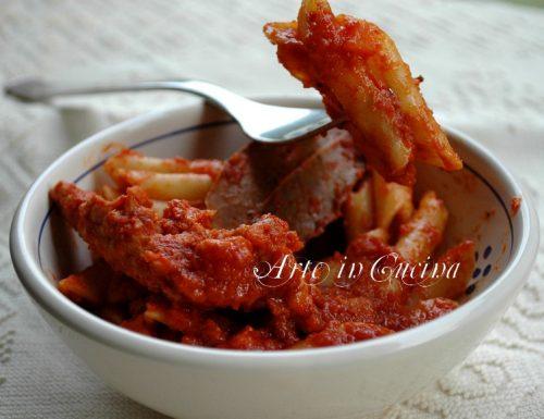 Pennette con salsiccia al sugo ricetta facile