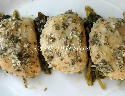Ravioli ricotta noci e broccoli
