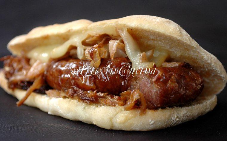 Saltimbocca salsiccia e crauti panino napoletano