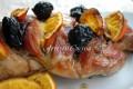 Tacchino al forno alla arancia e salsa di prugne